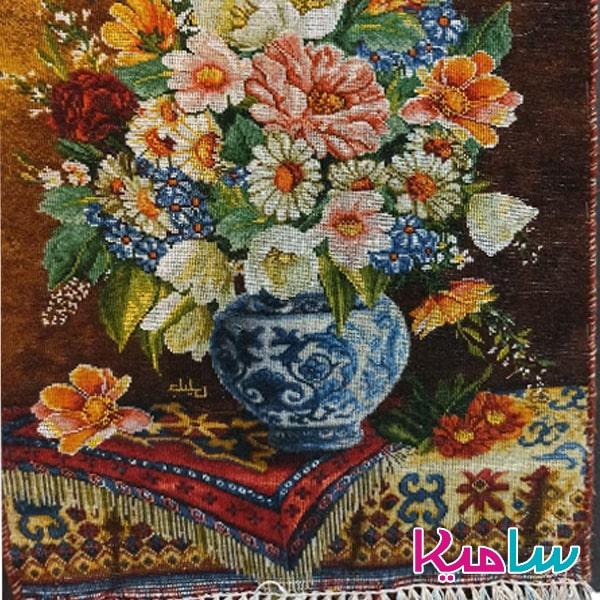 تابلو فرش دستبافت طرح گل کد 140